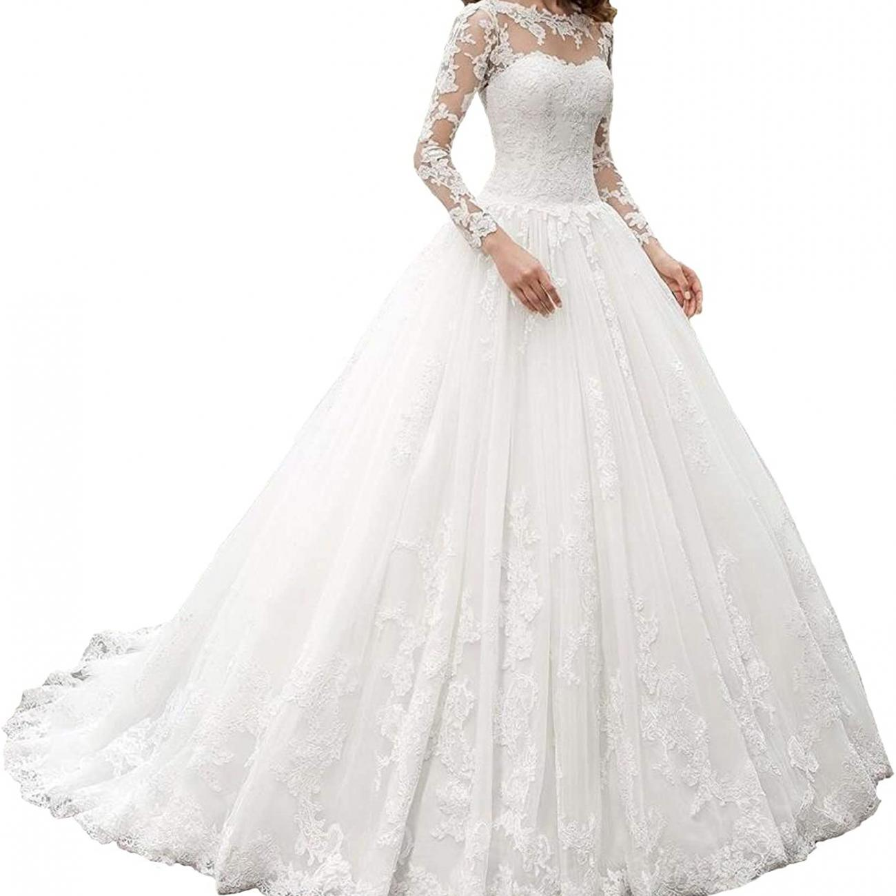 Scoop Lace Ball Gown
