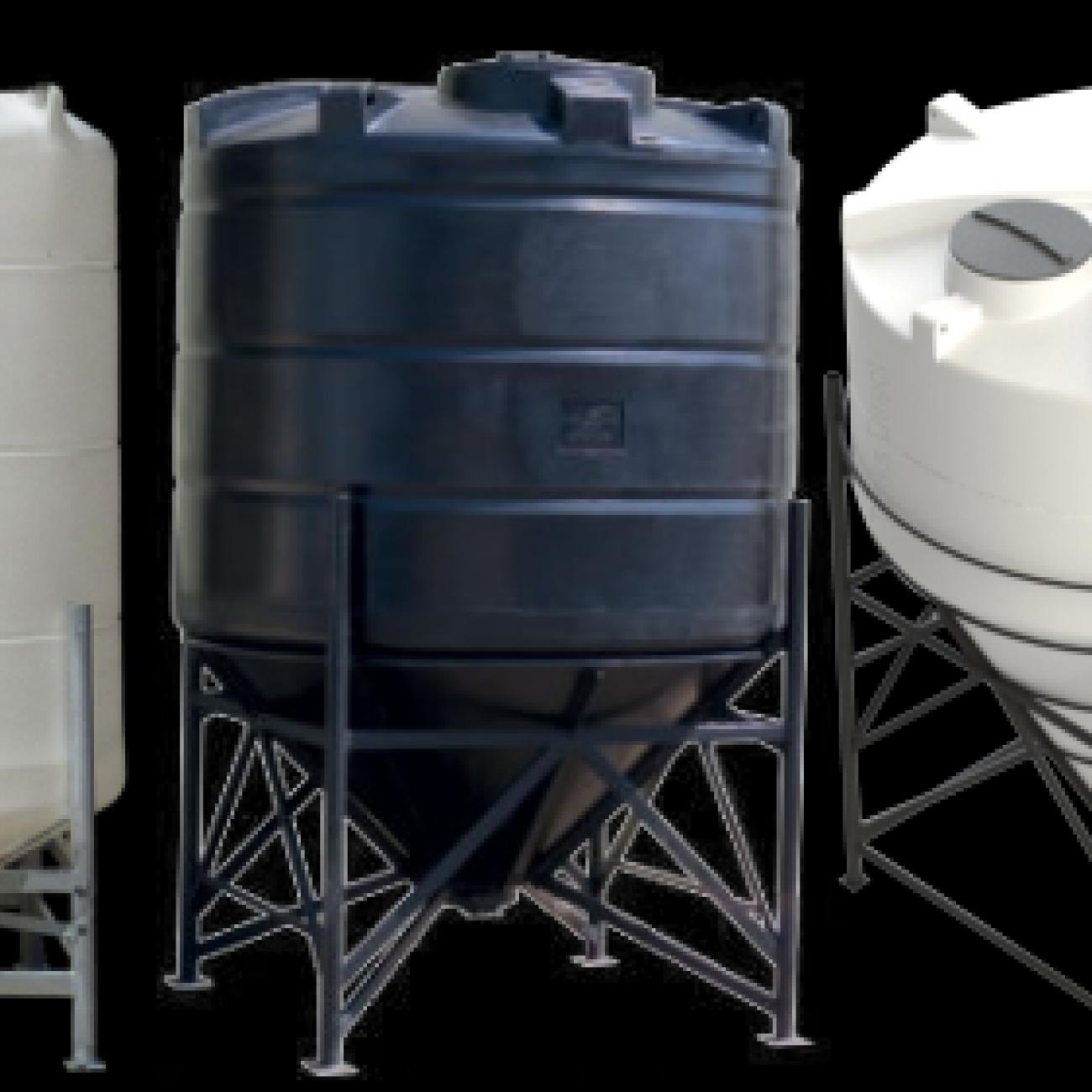 Conical tank storage