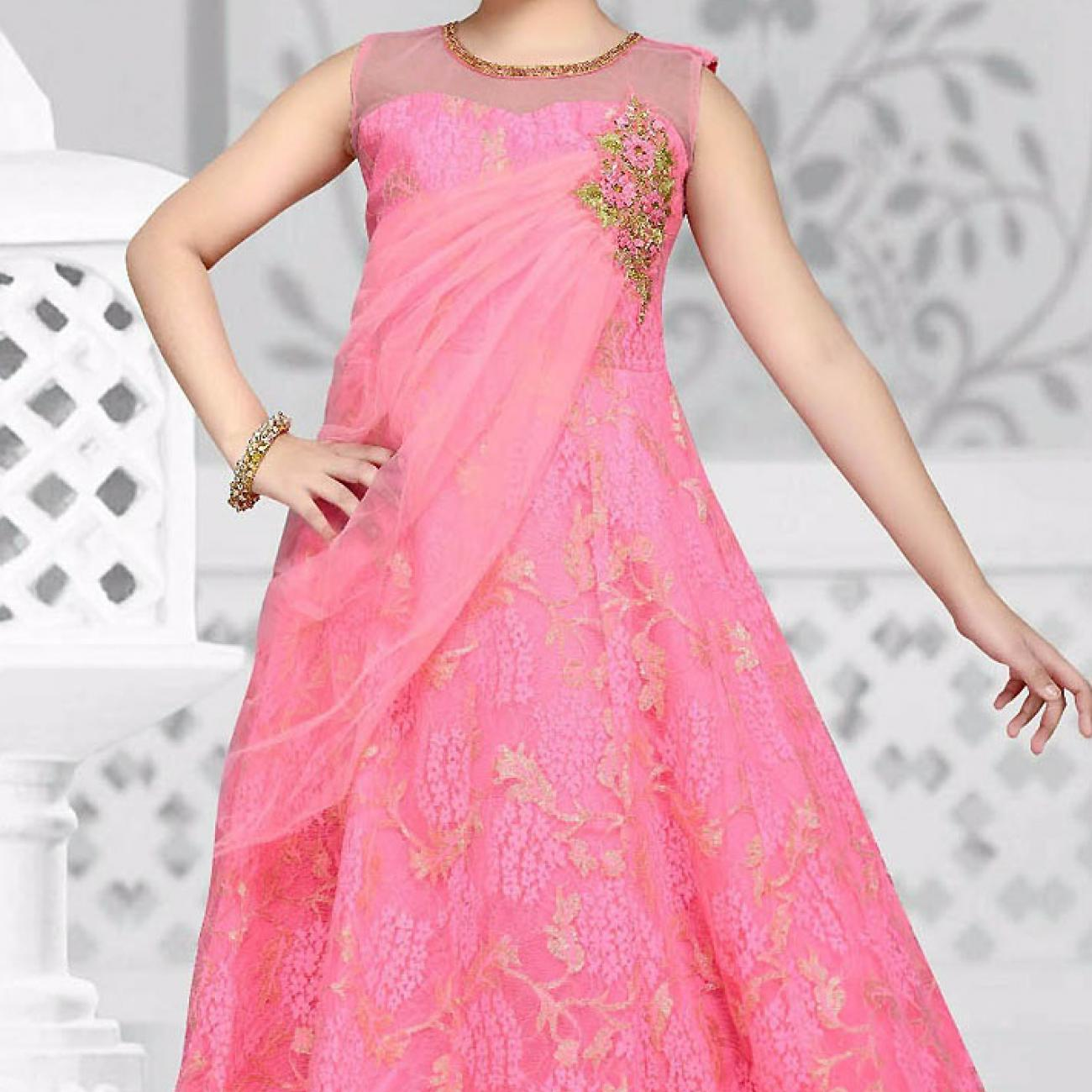 adorable-pink-net-kids-girl-designer-gown-with-floral-work-dtk2652-711x1280