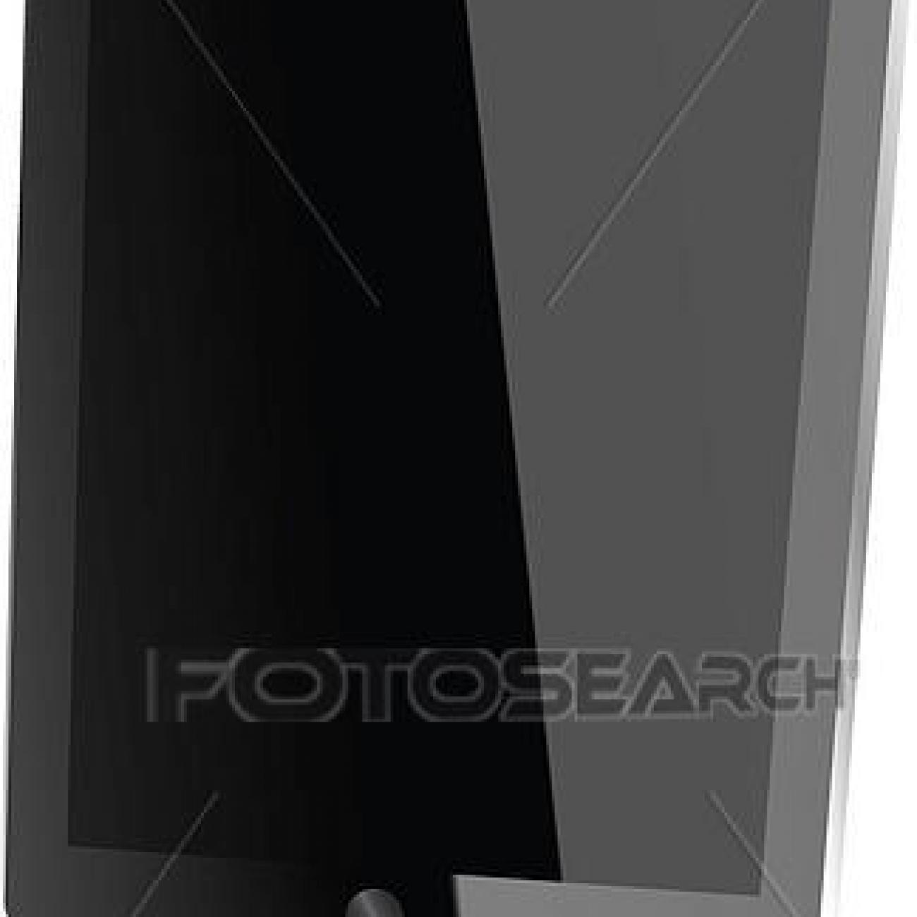 Black tablat PC Clipart |