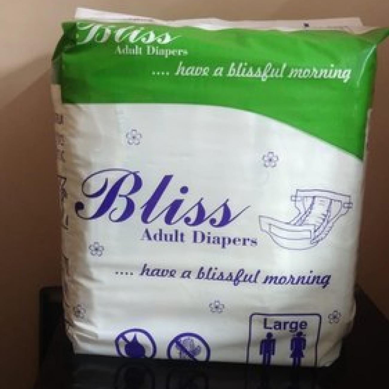 large bliss adult diaper