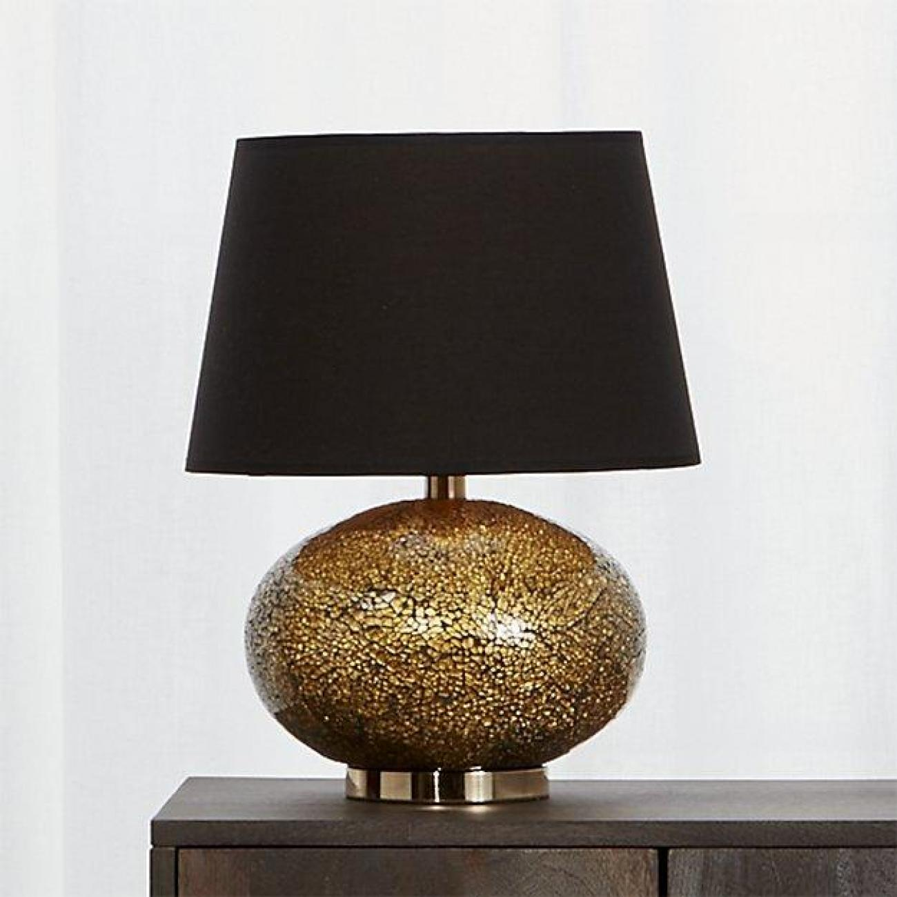 Crackle Finish Glass Lamp
