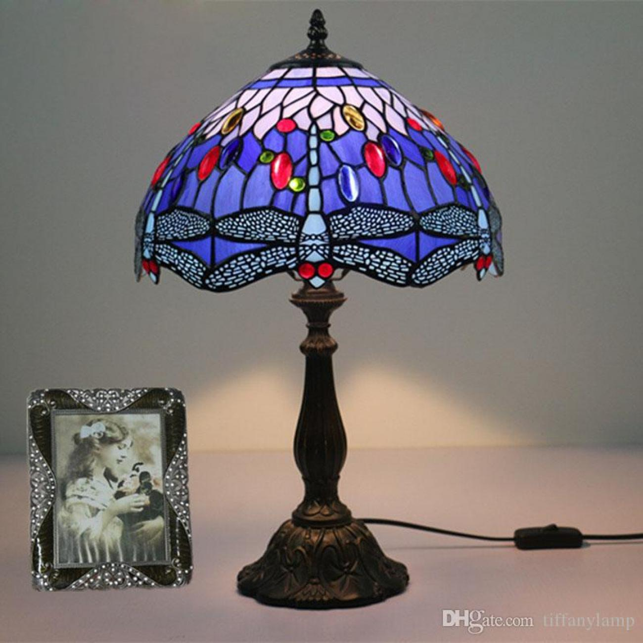 Jewelled Glass Lamp