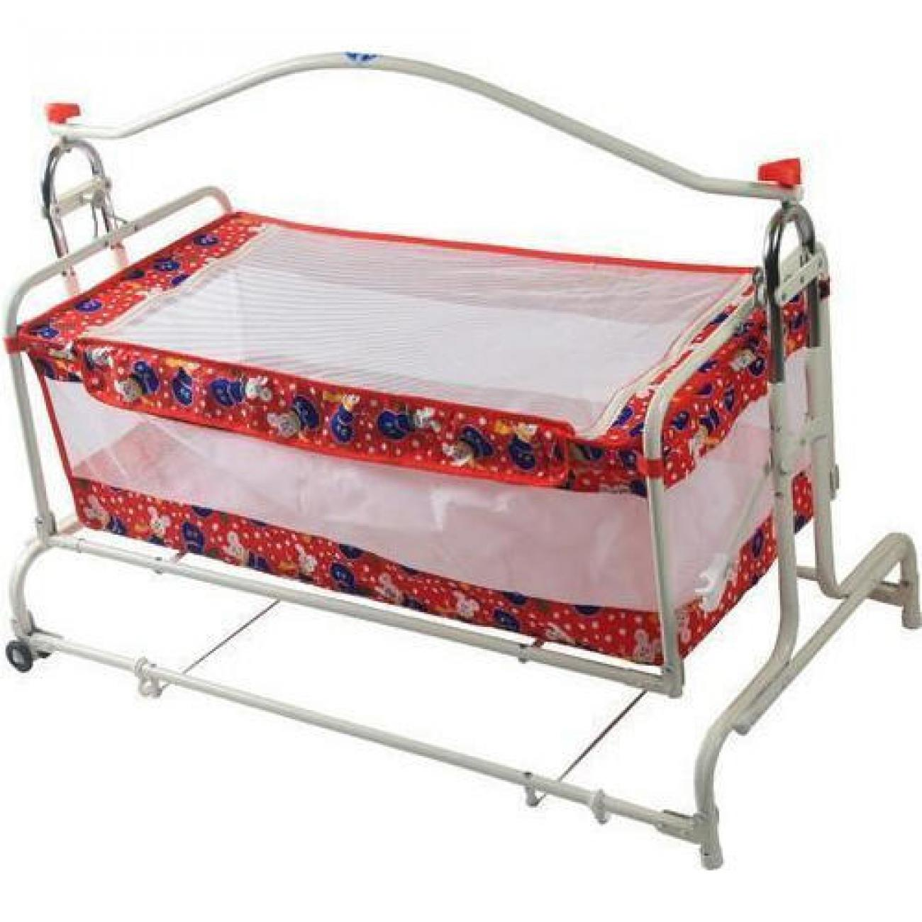 Red Designer Cradle Baby Palna